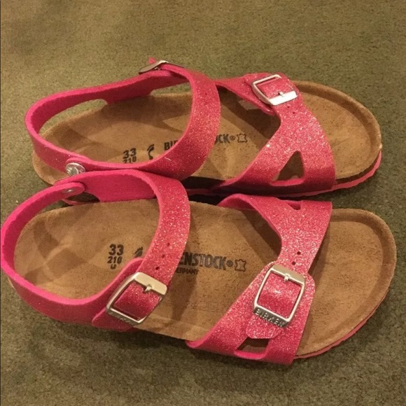 f37149a35f22 Girls Birkenstock Magic Galaxy Pink Rio Size 33