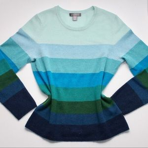 Sweaters - 100% Luxury Cashmere Gradient Blue Sweater