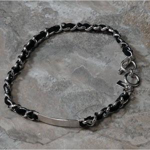 NWOT Silver and black bracelet LTDB109nc