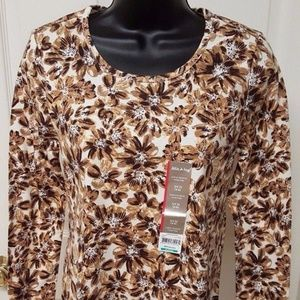 NWT White Stag Brown/Black/White Shirt