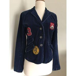 Navy blue corduroy American Eagle jacket