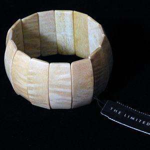 NWT wood stretch bracelet.  The Limited.   LTDB103