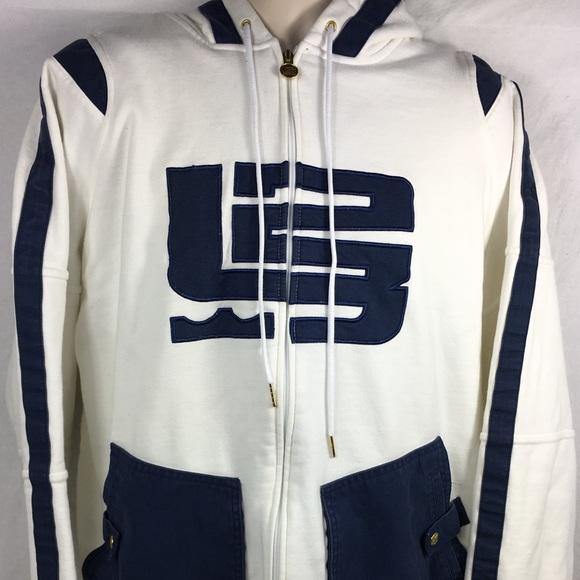 d84321163030 Nike Jackets & Coats | Lebron James Big Old Logo L23 Whitenavygold ...
