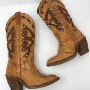 [Vintage] Miss Capezio Butterfly Cowboy Boots 5.5