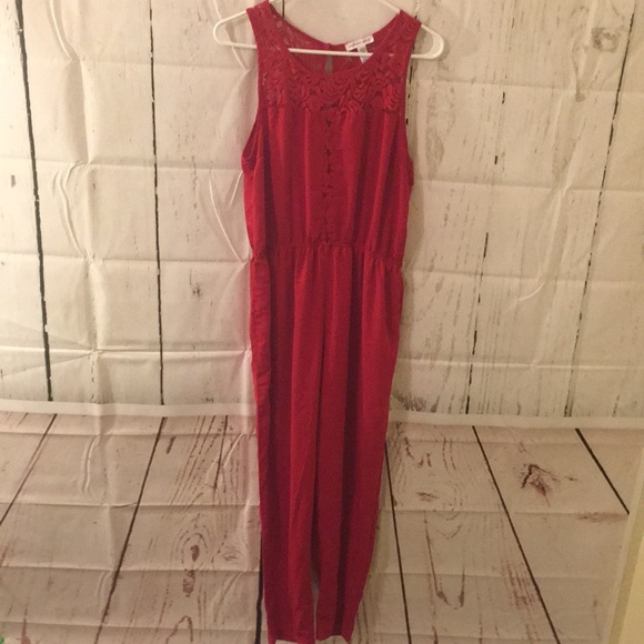 d76ac3c3402c ambiance apparel Other - Red sexy jumpsuit romper large lace ambiance