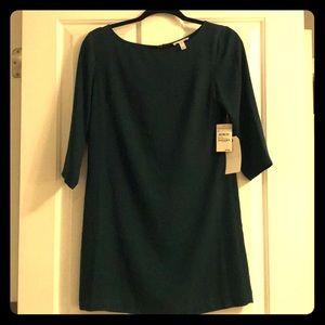 Formal dark green mini dress