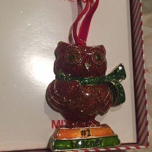 #1 Teacher👩🏽🏫 Owl 🦉 Ornament