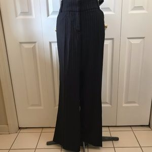NWT NY & Co Black Pinstripe Boot Cut Pant 14 $52