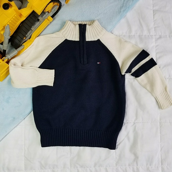 d1def025 Tommy Hilfiger Shirts & Tops | Toddlers Sweater Half Zip Navy 2t ...
