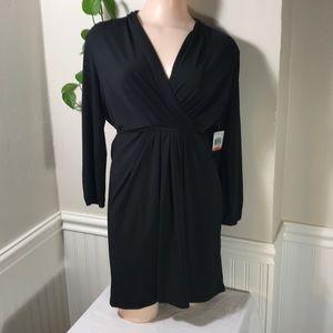 Bar III Women's Drape-Front Tie Back Long Sleeve