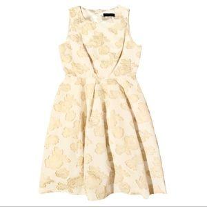 Ivanka Trump gold floral sleeveless dress