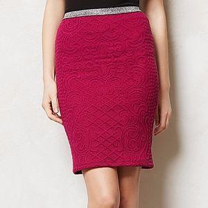 Anthropologie Moulinette Soeurs Pink Pencil Skirt