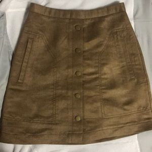 Highwaisted faux suede H&M Skirt