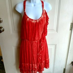 Free People red white sleeveless dress casual