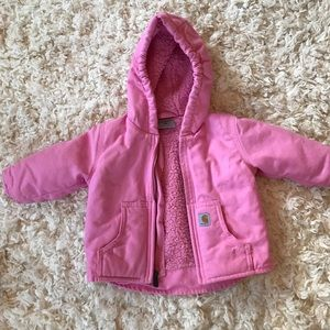{carhartt} baby, pink coat like New super warm