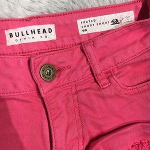 Bullhead frayed short short