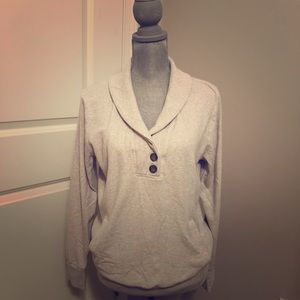 Banana Republic Cream Sweatshirt w/Front Pocket