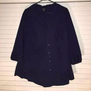 Navy Women's Dress Shirt