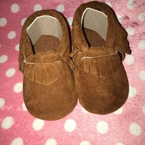 Other - Adorable brown baby Moccasins