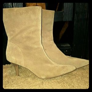 Massimo Suede Heeled Boots