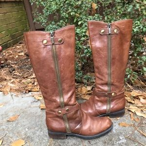 "Franco Sarto ""Pacific"" side zip riding boots"