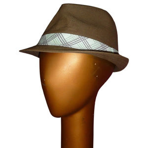 Urban Outfitters Army Green Drab Fedora Plaid Band