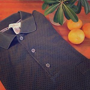 ERMENEGILDO ZEGNA 100% cotton shirt sleeve polo