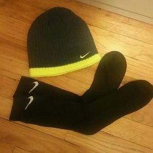 Nike Black Socks and Gray Nike Hat, NWT