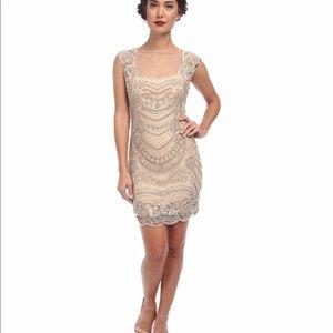 Beautiful beaded Adrianna Papell formal dress