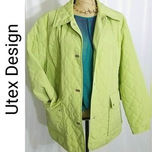 Jackets & Blazers - Fresh Green Quilted Plus Size Jacket 1X