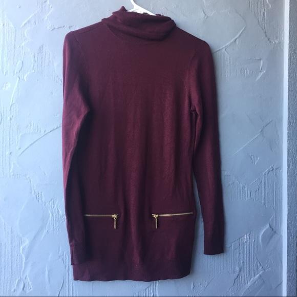 79% off Michael Kors Tops - Michael Kors maroon tunic sweater XS ...