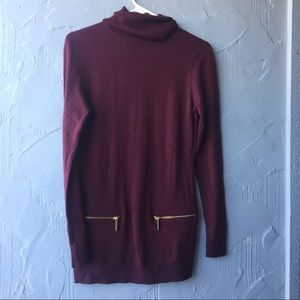 Michael Kors maroon tunic sweater XS