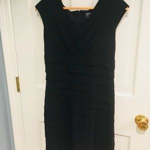 Classic black cocktail dress