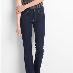 Mid rise baby boot jeans | Dark Indigo wash