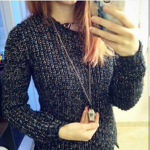 Jessica Simpson Multicolored Scoop Neck Sweater