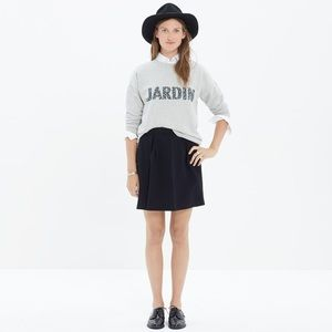 Madewell Bistro Black Mini Skirt
