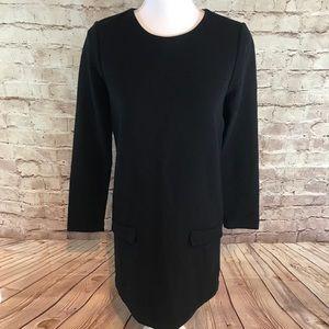 Joie 100% Wool long sleeve black dress