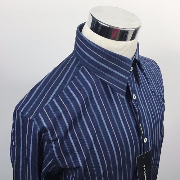 b9f5c1fd Dolce & Gabbana Shirts | Dolce Gabbana 165 36 Blue Striped Dress ...