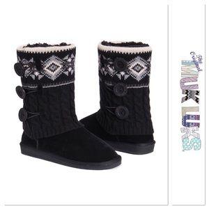Black Muk Luks Boot