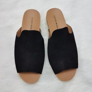 NWOT Lucky Brand Finela Slide Sandals
