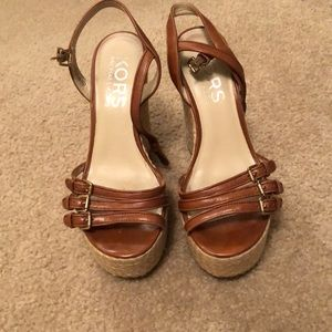 Michael Kors wedge platform sandals