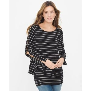 WHBM Double-Layer Stripe Tunic