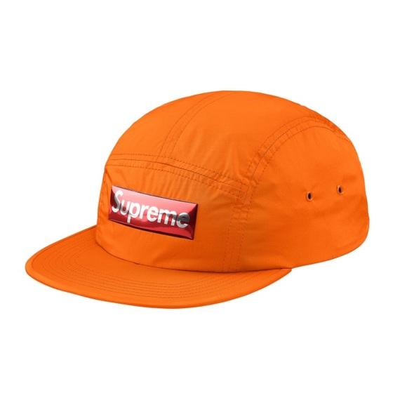 Supreme RARE metallic red box logo orange camp hat 4fa61b6a7c1