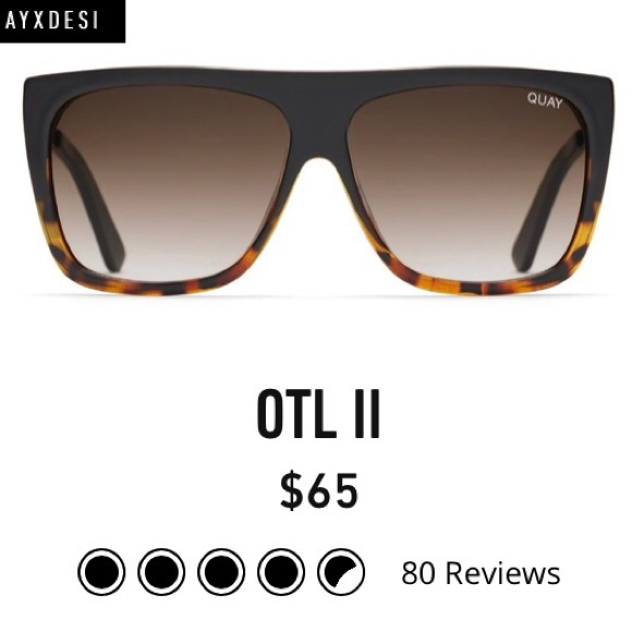 fb1ed820a75 NEW QUAY DESI OTL II Sunglasses NWT on the low