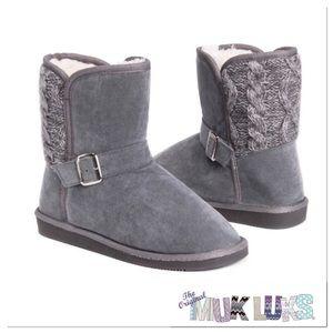 Gray Muk Luks Boots