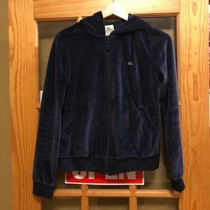 Lacoste velour sweater sweatshirt jacket
