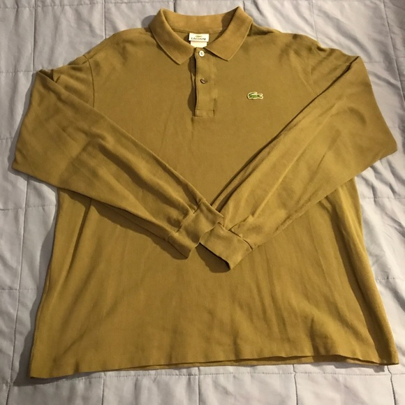 ccaf5c2c LACOSTE FRANCE OLIVE GREEN LONG SLEEVE POLO SHIRT