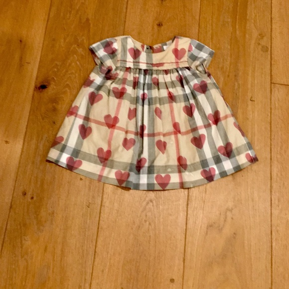 23a14cfc0cee Burberry Dresses | Baby Girl Beige Check And Heart Dress | Poshmark