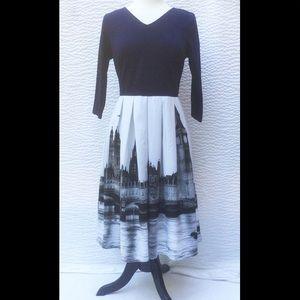 New Eshakti London Fit & Flare Dress L 12