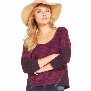 Jessica Simpson Side Zipper Loose Fit Sweater 2X